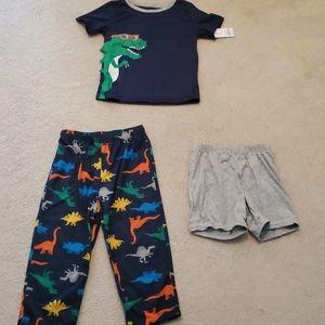 Carter's Toddler Boy 5T 3PC Pajama Set NWT